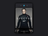 Daily UI #010 - Spectre movie Social share #dailyui #010