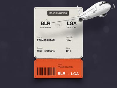 Daily UI #024- boarding pass #dailyui #024 card aeroplane ticket flat dailyui ux ui design travel journey flight boarding pass
