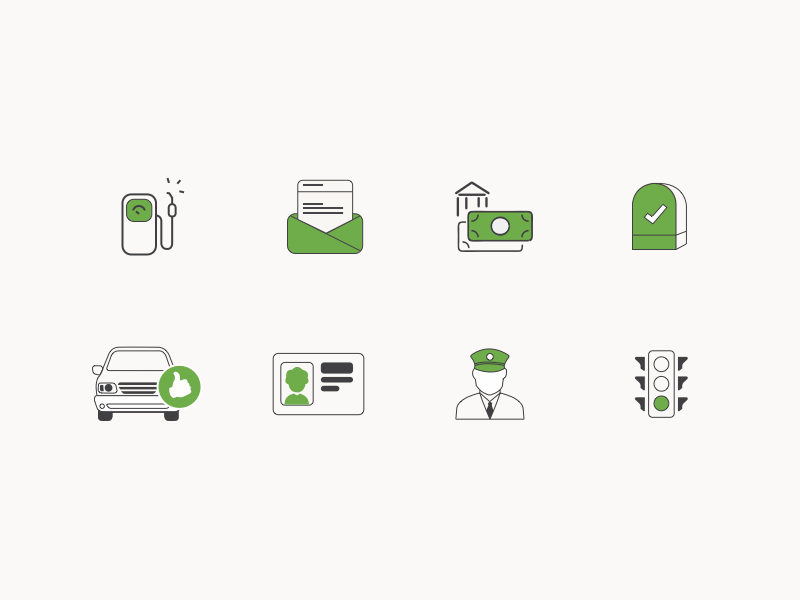 line icons for travel and insurance freebie mail money traffic petrol car design line icon sketchapp vector icons travel
