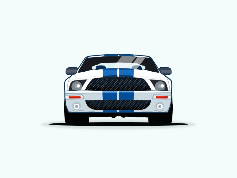 Ford Mustang Vector Illustration By Pramod Kabadi Dribbble