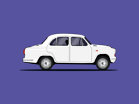 Ambassador Car Illustration