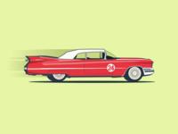 Edsel Corsair Classic Vintage Car illustration