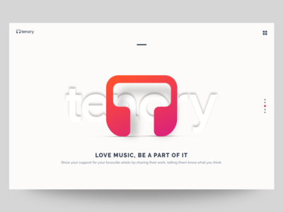 Tenory website landing screen option