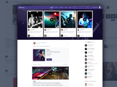 Tenory - The Music Community - website