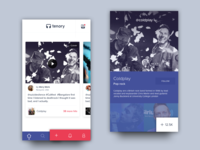 Tenory App - Homescreen and artist details