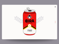 BIRA beer tin website landing