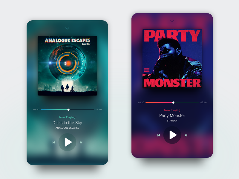 Tenory Music Player  dailyui songs interaction interface mobile app ios design ux ui play music player tenory