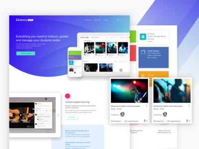 Tenory Sync homepage UI design