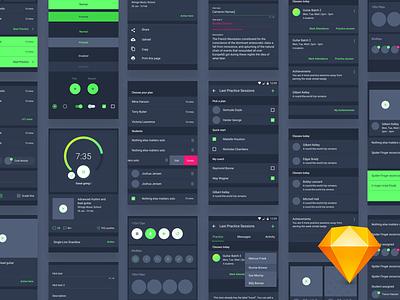Material Design Ui Kit  Design dashboard analytics tenory freebie flat app design sketch profile ui bundle ui kit android components material