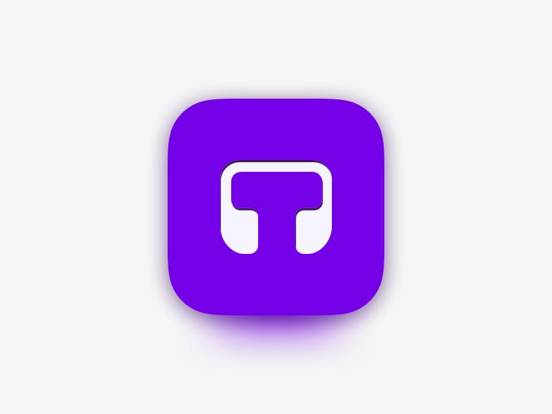 Tenory Mobile App Icon tenory practice teacher ui design pink blue purple white music android ios gradient clean minimal app store app icon