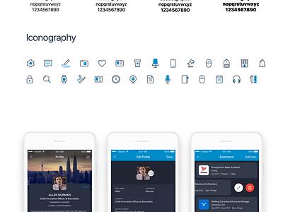 LinkedIn Dark Theme app freebie sketchapp interaction design profile job vector icon ios mobile design linkedin