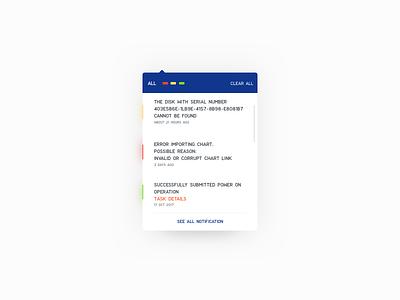 Notification Centre Visual Design download sketch interface success error dropdown dailyui freebie web ux ui notification