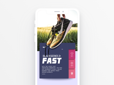 Nike intro slide design system modern interaction flat design sketchapp iphone x black mobile ui design mobile interface design interface design product branding nike ui dailyui