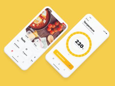 Smart oven app concept