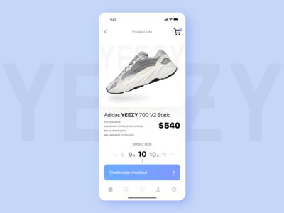 Yeezy UI App Design