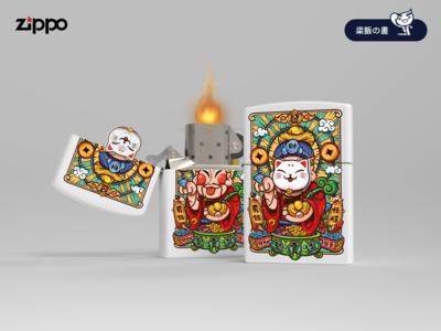 Zippo-财神※招财猫面具款