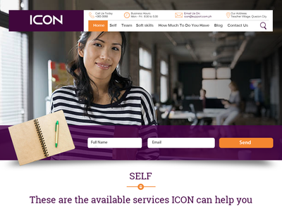 ICON Image Consulancy Self Page Mockup ui web developer design icon ux @justin jake telo web designer @tinworks