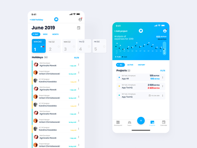 Mobile app for the management projects flat minimal icon app design vector ui ux