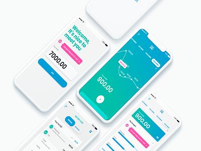 Mr Wallet mobile app colors aplication uimobile flat minimal ux ui design app