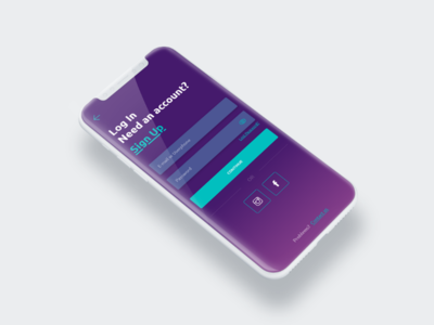LogIn in mobile app app font design system gradient form textfields input colors aplication login design mobileapp uxui softwarehouse ux designer ui