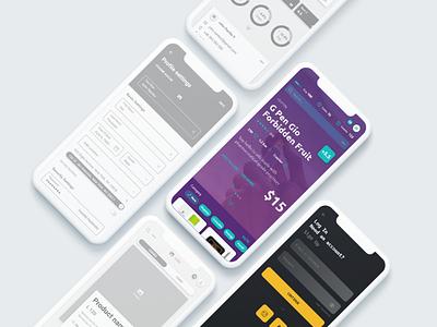The mobie shop app colors design softwarehouse liquidcode mobile shop app mobileapp ui design mockup ui ux