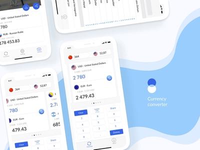 Mobile App / Currency Converter / UI design