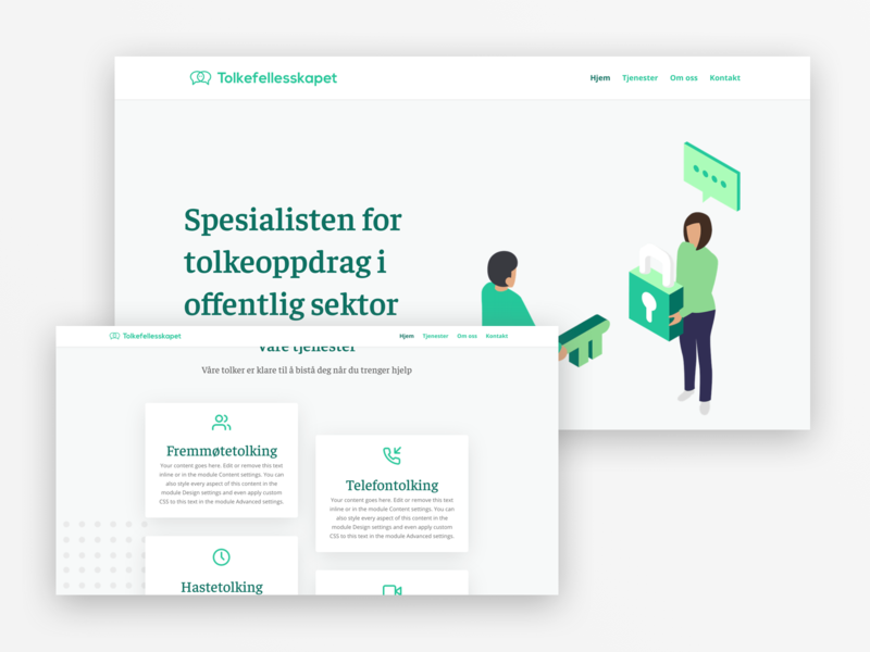 Social company phone company corporation clean simple minimalist green website ux design