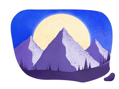 Mountainscape textures design vector art illustration affinitydesigner