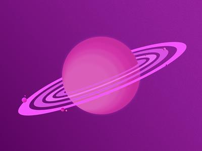 Purple Planet illustration affinitydesigner vector flat vector art design