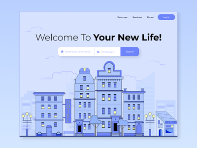 Find Your Dream House - Web App Exploration app ui vector flat design vector art illustration figma