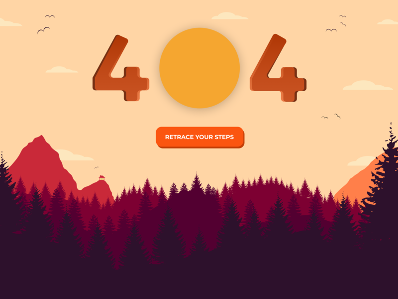 404 Page - Daily UI 008 vector art illustration figma dailyui 404 page