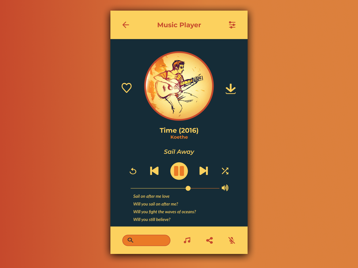 DailyUI 009 - Music Player vector art design dailyui figma