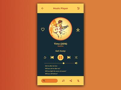 DailyUI 009 - Music Player vector art design dailyui figma