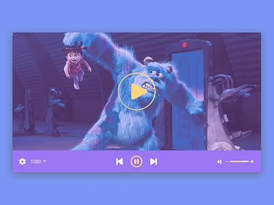 Daily UI 057 - Video Player vector icon ui design figma dailyui