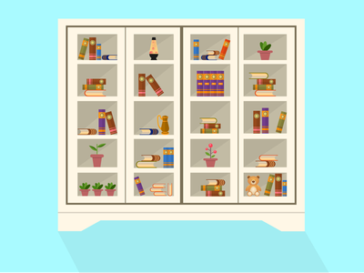Flat Bookshelf vector flat vector art illustration design figma