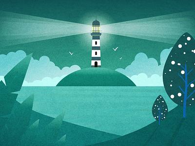 Nostalgia Island island lighthouse blending modes overlay vector flat vector art illustration figma