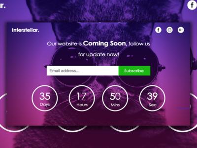 website announcement design