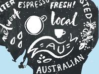 Coffee map of Australia