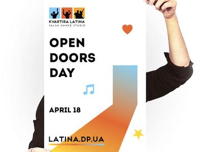 Doors open day, poster for salsa dance school