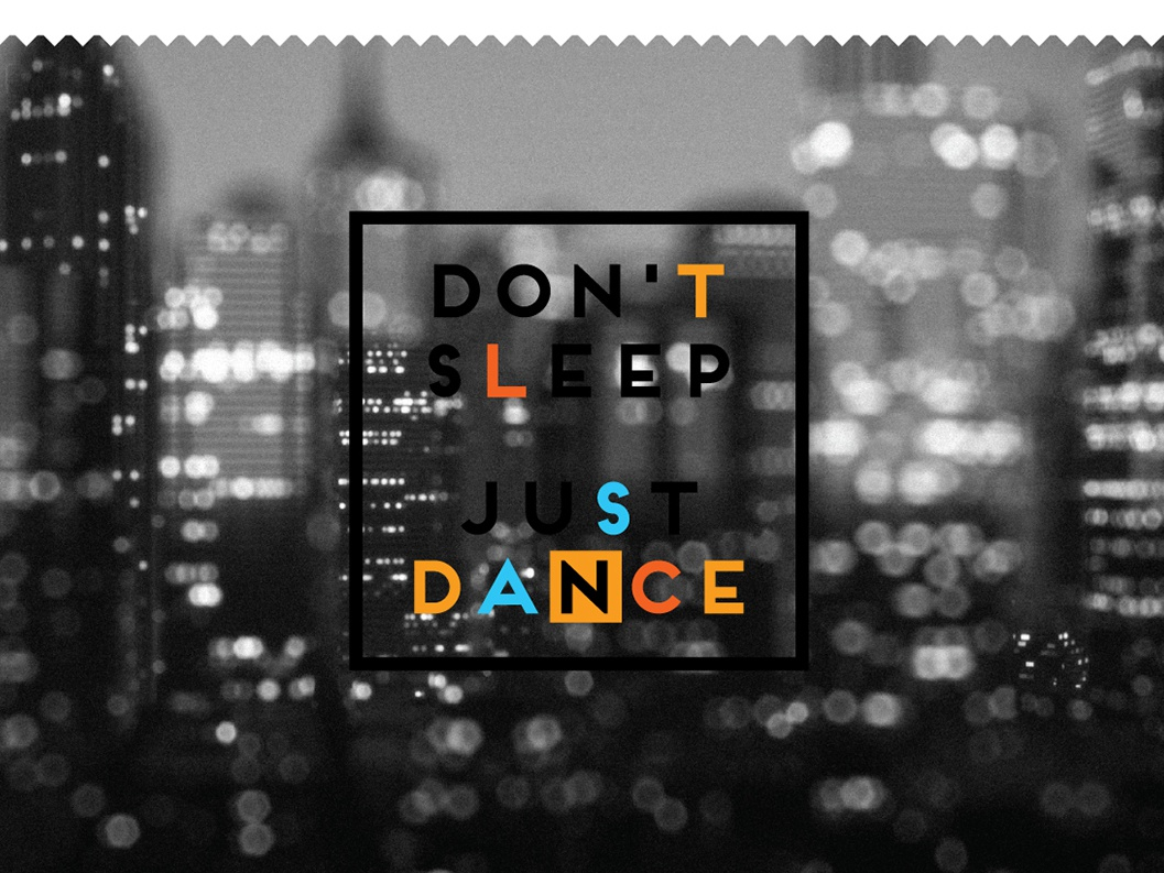 Promo for salsa school brand dance studio dance school dance party dance music entertainment dont sleep night life branding black blue yellow design night club salsa dance salsa dance night vector