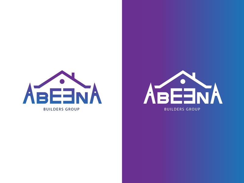 Abeena logo build builders building consept color logo logo design logotype logos typogaphy