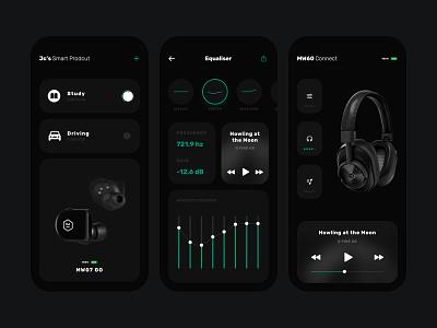 App Control Concept home uidesign marster smartphone dark mode dark black smart ui
