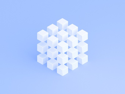 The Cube illustration cube 3d rendered design
