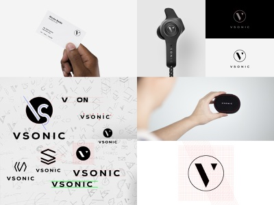 VSONIC Logo Design typography design mark vi logo