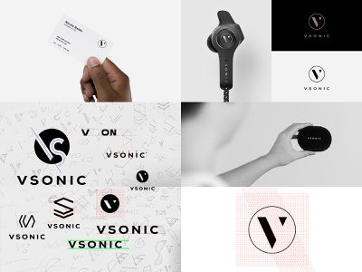 VSONIC Logo Design design typography mark vi logo