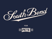 Pete for America - Handlettering