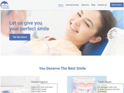Dentistry Landing page