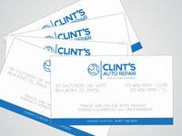 Clint's auto repair card mockup