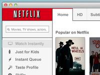 Netflix Mac App Design #2