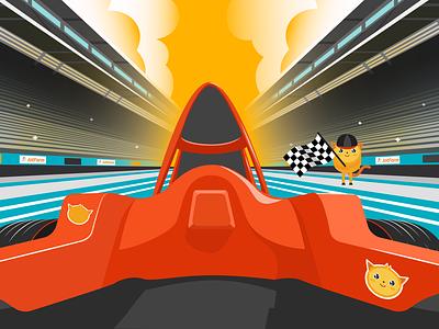 Zoom Virtual Background - Formula 1 background virtual zoom jotform flat illustration illustrator adobe
